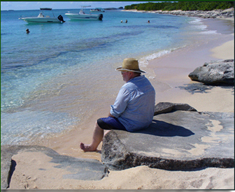 retired Martin on a Day trip to Icacos Island