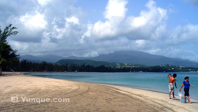 Luquillo Beach Is East Of San Juan
