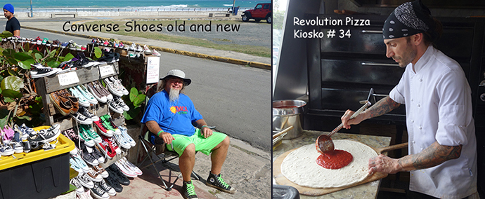 Conversity shoes and kioskos revolution pizza
