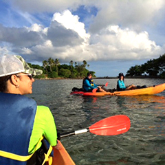 kayak tour to monkey island with snorkeling