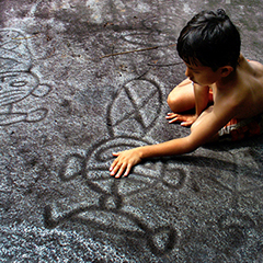 Taino Inian rock carvings