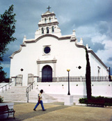 Church in Coamo plaza