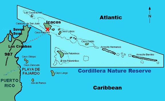 map of the cordilllera reserve puerto rico