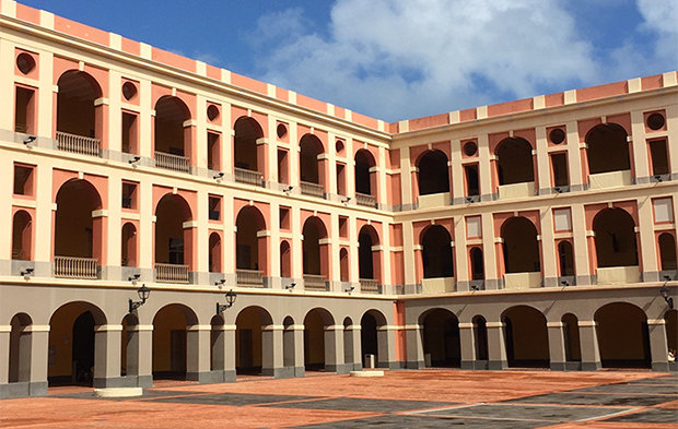 Ballaja oldmilitary barracks and museum galleries in old san juan