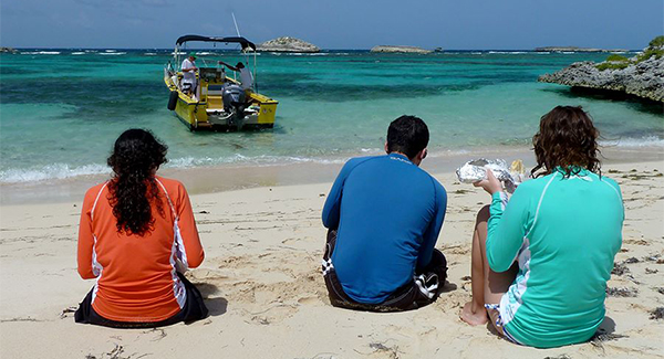 Playa Los Lirios picnic reached by water taxi to Icacos