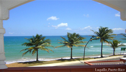 Luquillo Sunrise Beach Hotel Facing The Ocean